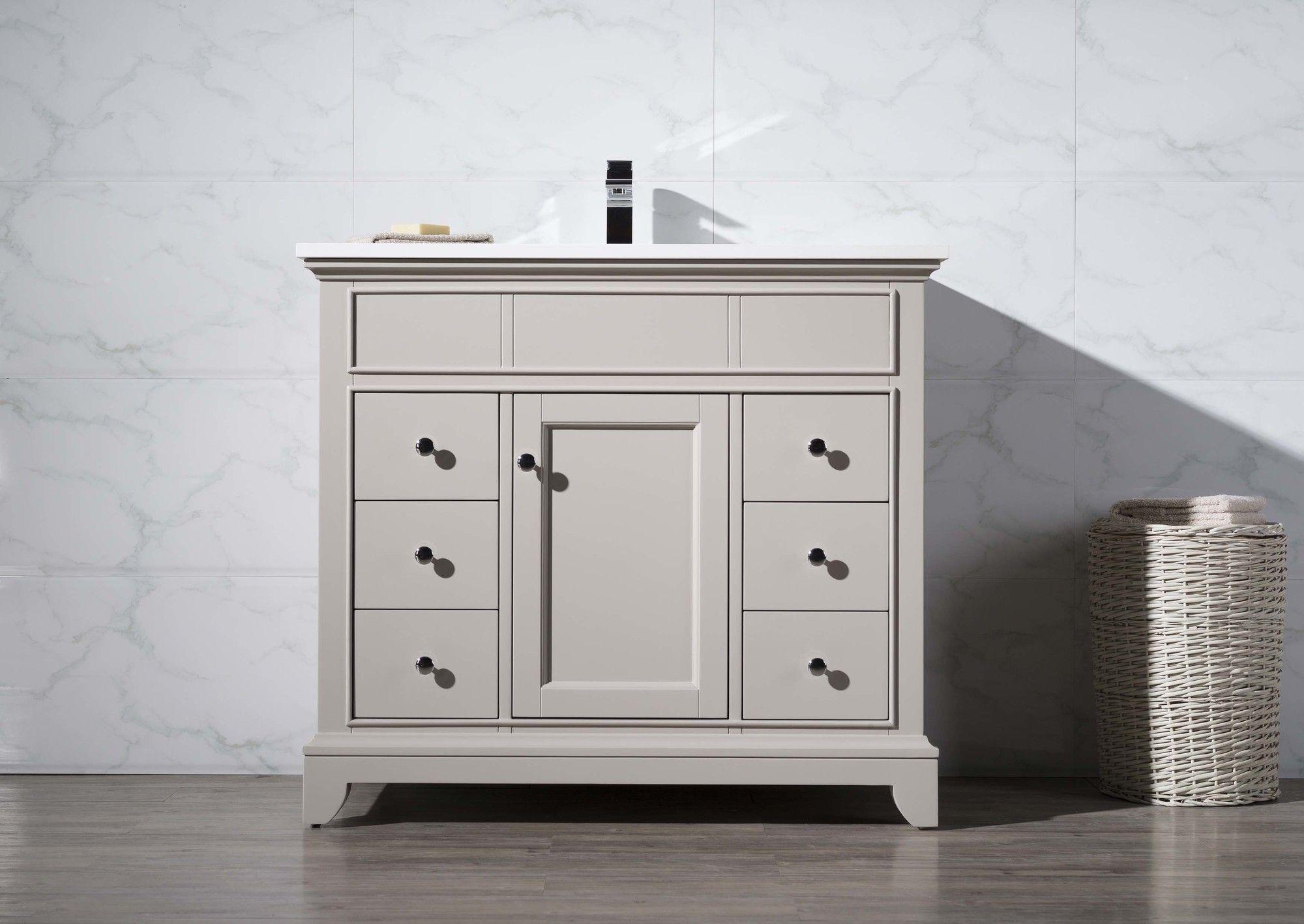 "Home Loft Concepts Arianny 37"" Single Sink Bathroom Vanity Set & Reviews | Wayfair Supply"