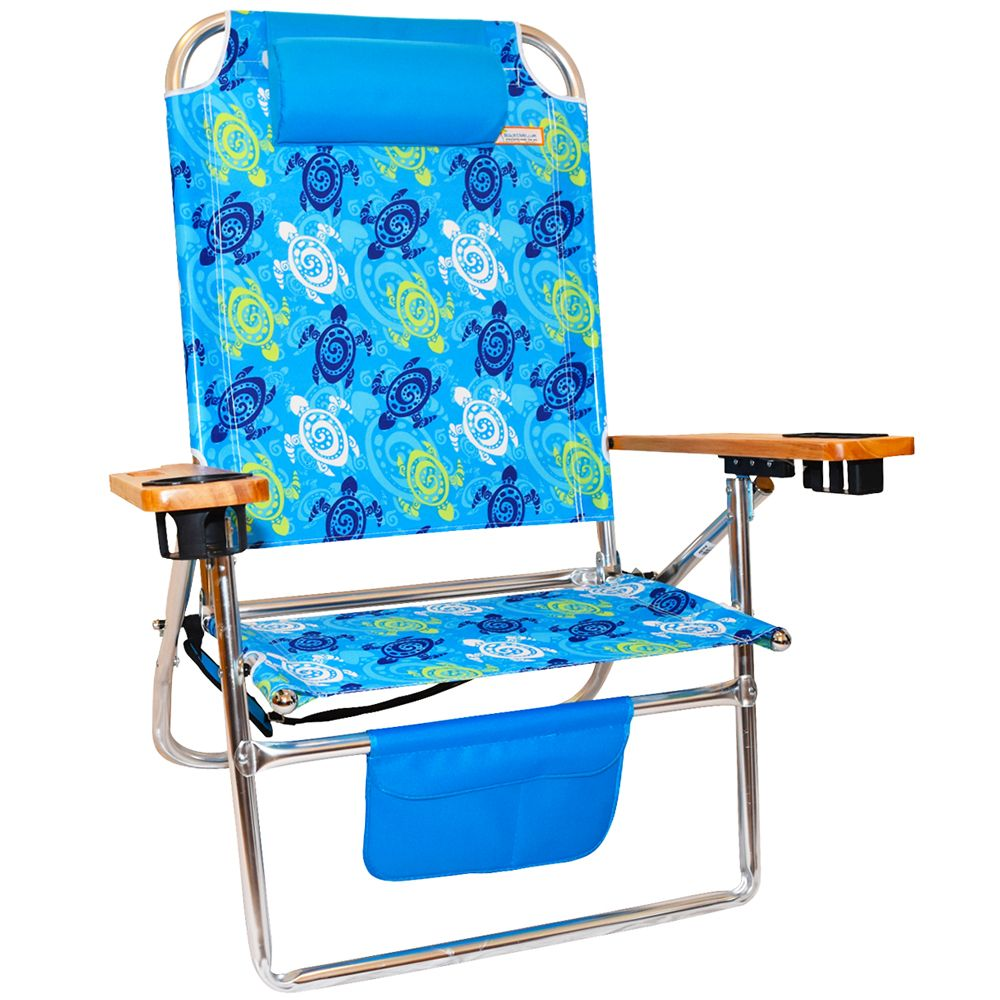 Big Fish Titan HiSeat Aluminum Folding Beach Chair Blue
