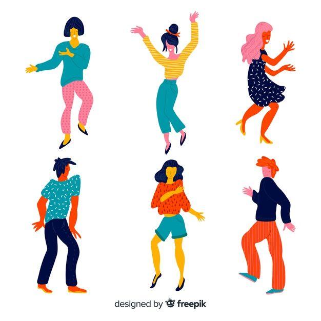 Scarica Gratis I Giovani Ballano Bailar Dibujo Ninos Bailando Logotipo De La Danza