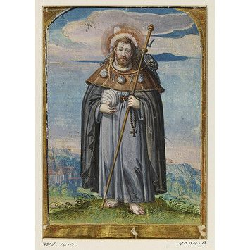 Manuscript Miniature from a Choirbook showing St James of