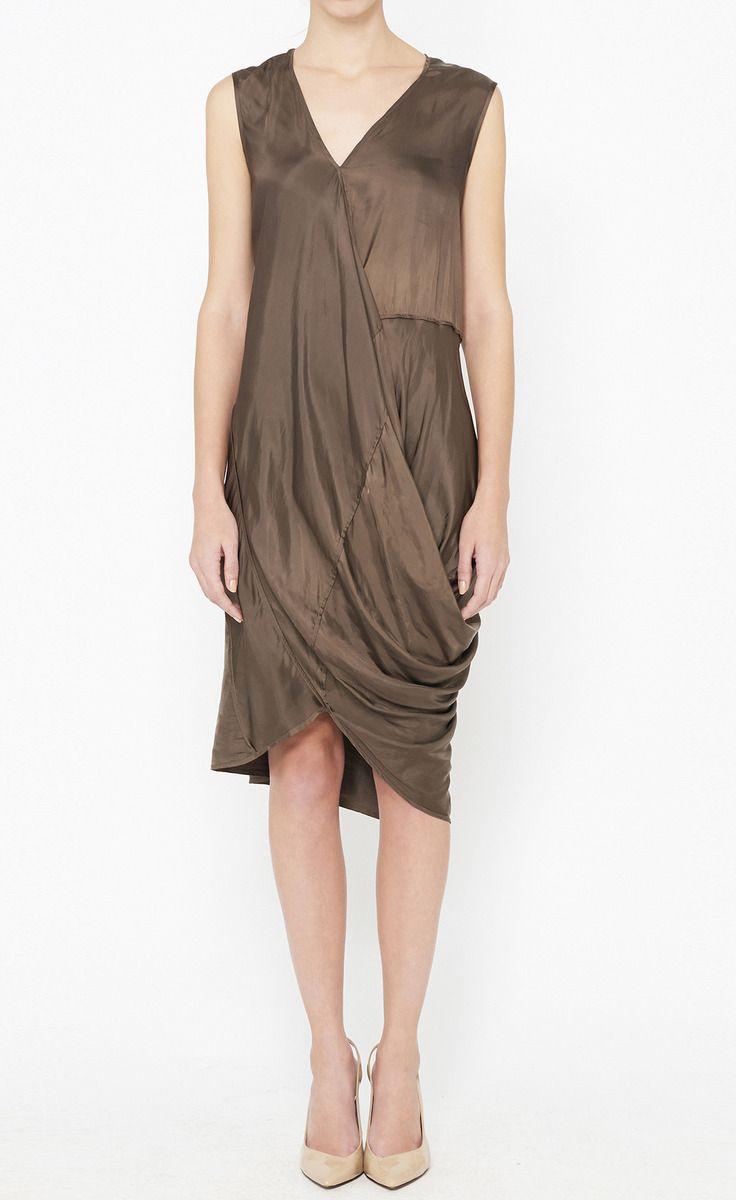 Zero + Maria Cornejo Brown Dress Dress to impress