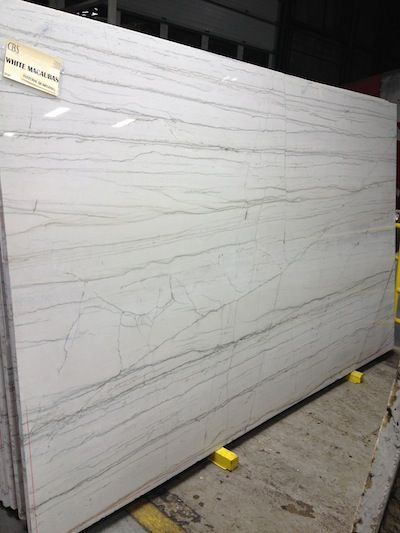 Sygma Stone counters (aka Bianco Macabas aka Luce de Luna) - Brazilian quartzite, durable as granite, looks like marble, will not stain like marble