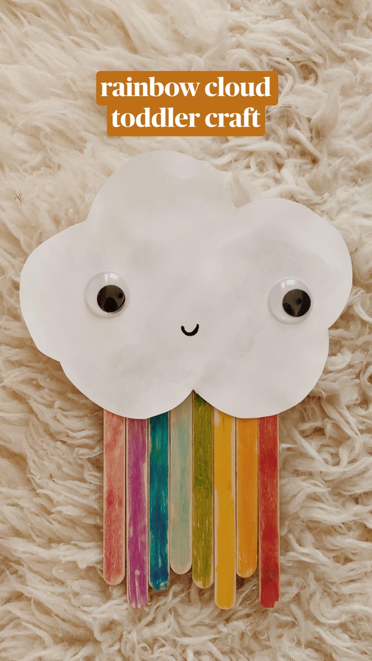 rainbow cloud toddler craft