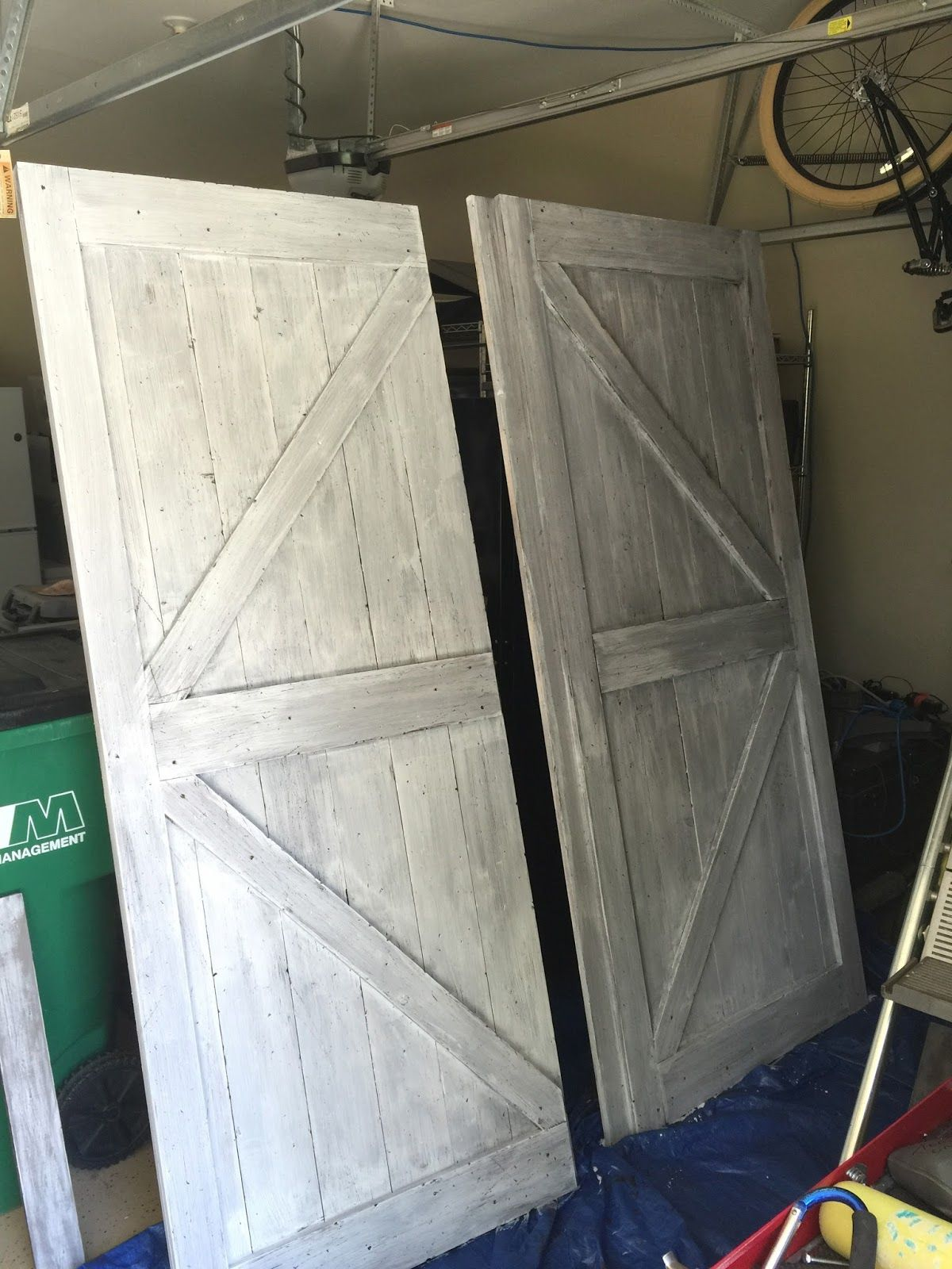 Diy Barn Door Headboard And Faux Barn Door Track Hardware Barndoor Headboard Diy Barn Door Door Headboard