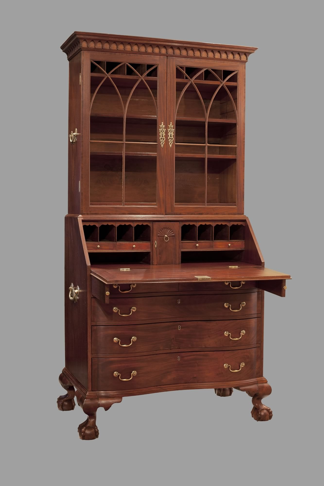 Large Of Secretary Desk With Hutch
