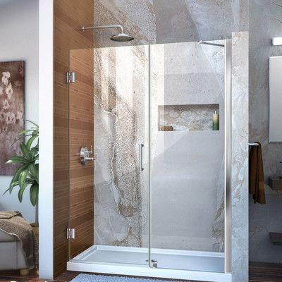 Dreamline Unidoor 50 X 72 Hinged Frameless Shower Door Trim