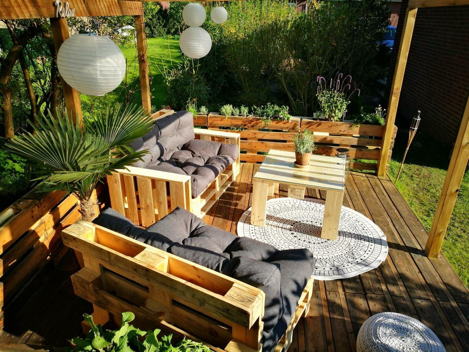 Palettenmöbel Terrasse Paletten Selber Bauenᐅ Terrasse Aus Paletten Selber Bauen Palettenm Terrace Furniture Outdoor Furniture Sets Diy Pallet Furniture