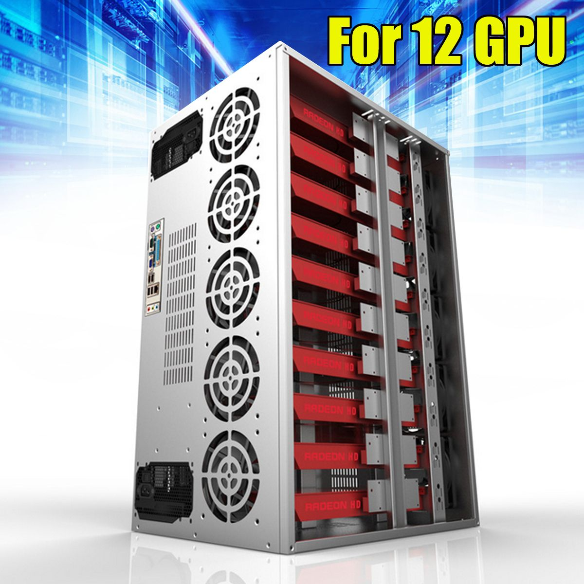 Diy Mining Frame Rig Case Miner Mining Machine Frame For 12 Gpu Mining Crypto Currency Rigs Miner 210 10 235 35