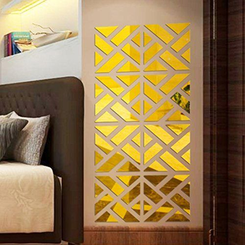 $5.98 - Lanhui_Exquisite 32Pcs 3D Mirror Acrylic Wall Sticker DIY ...