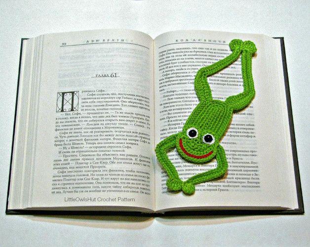 Crochet Tutorials – 061 Crochet Pattern Frog Bookmark Zabelina DW ...