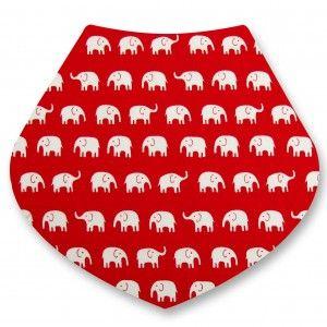 Elephants on Red Bandana Dribble Bib