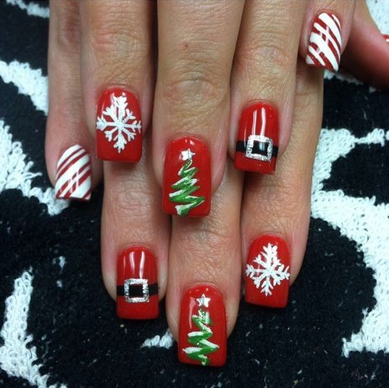 60+ Nail Art For Christmas Ideas 48 Nail designs Pinterest