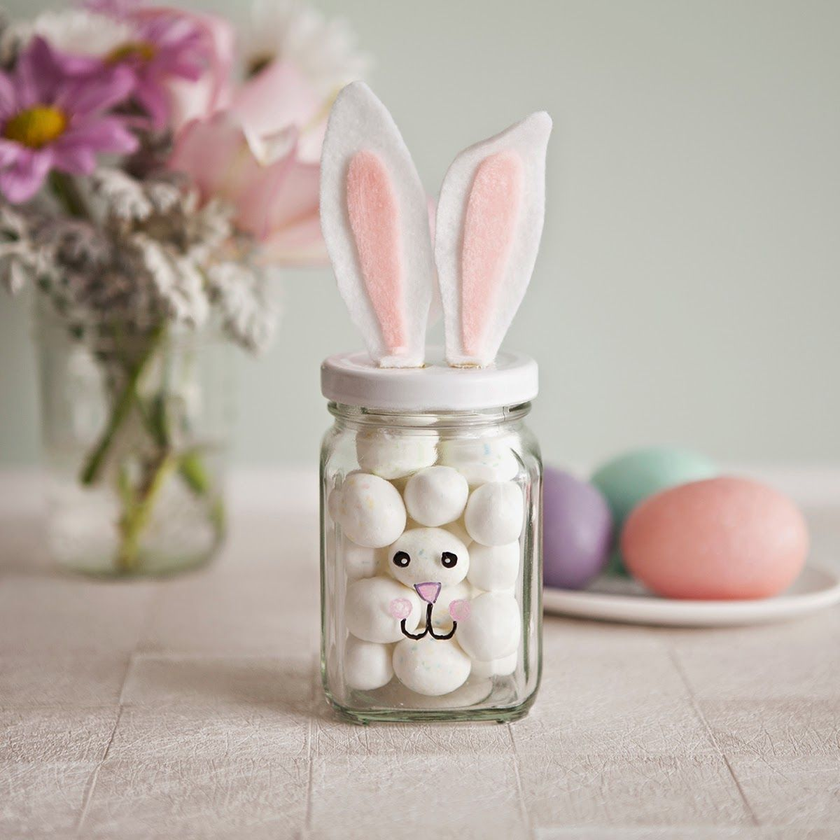 Decorar un bote de cristal para pascua crafts pinterest cake pastel easter bunny jars diy easter crafts for kids holiday gift ideas negle Image collections