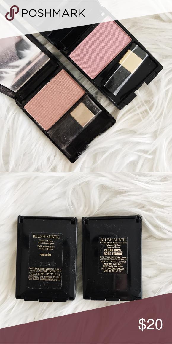 Lancome Blush Bundle, Set of 2 • brand: lancome  • condition: new  • description: set of 2 lancome blushes, brand new, gorgeous shades   • trying to downsize my closet! bundle to save 💰 + happy shopping! Lancome Makeup Blush