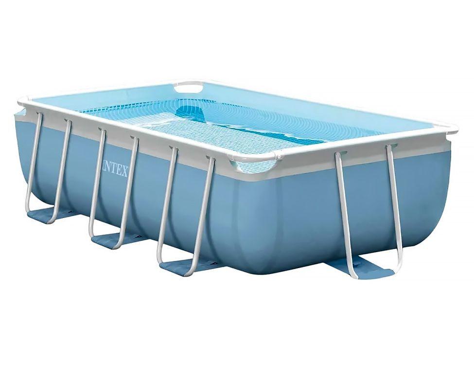 Pools #INTEX #28314NP Intex 2831 Rahmen Rechteckig 3539l Blau, Weiß ...