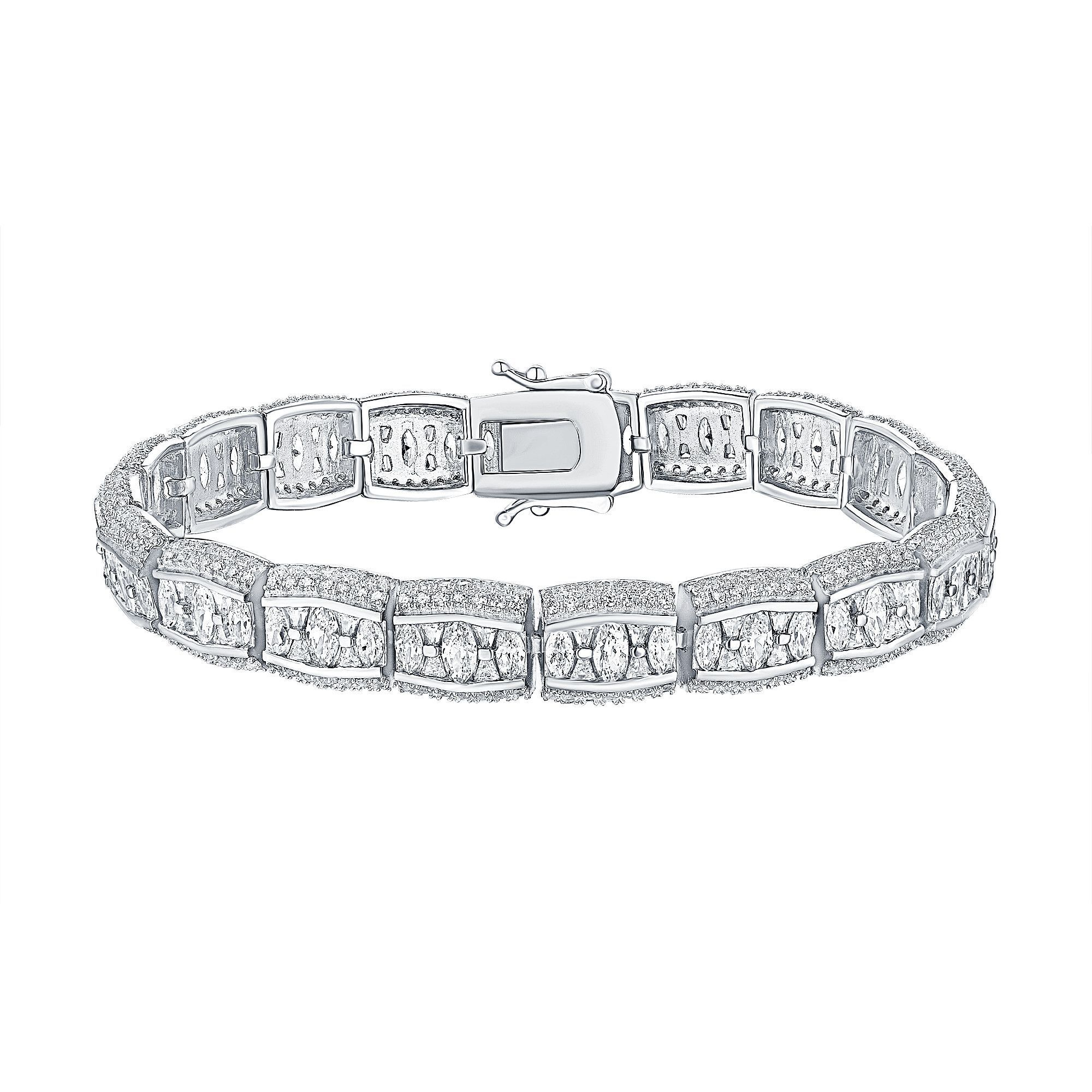 Womens gold bracelet oval cut lab diamond white products