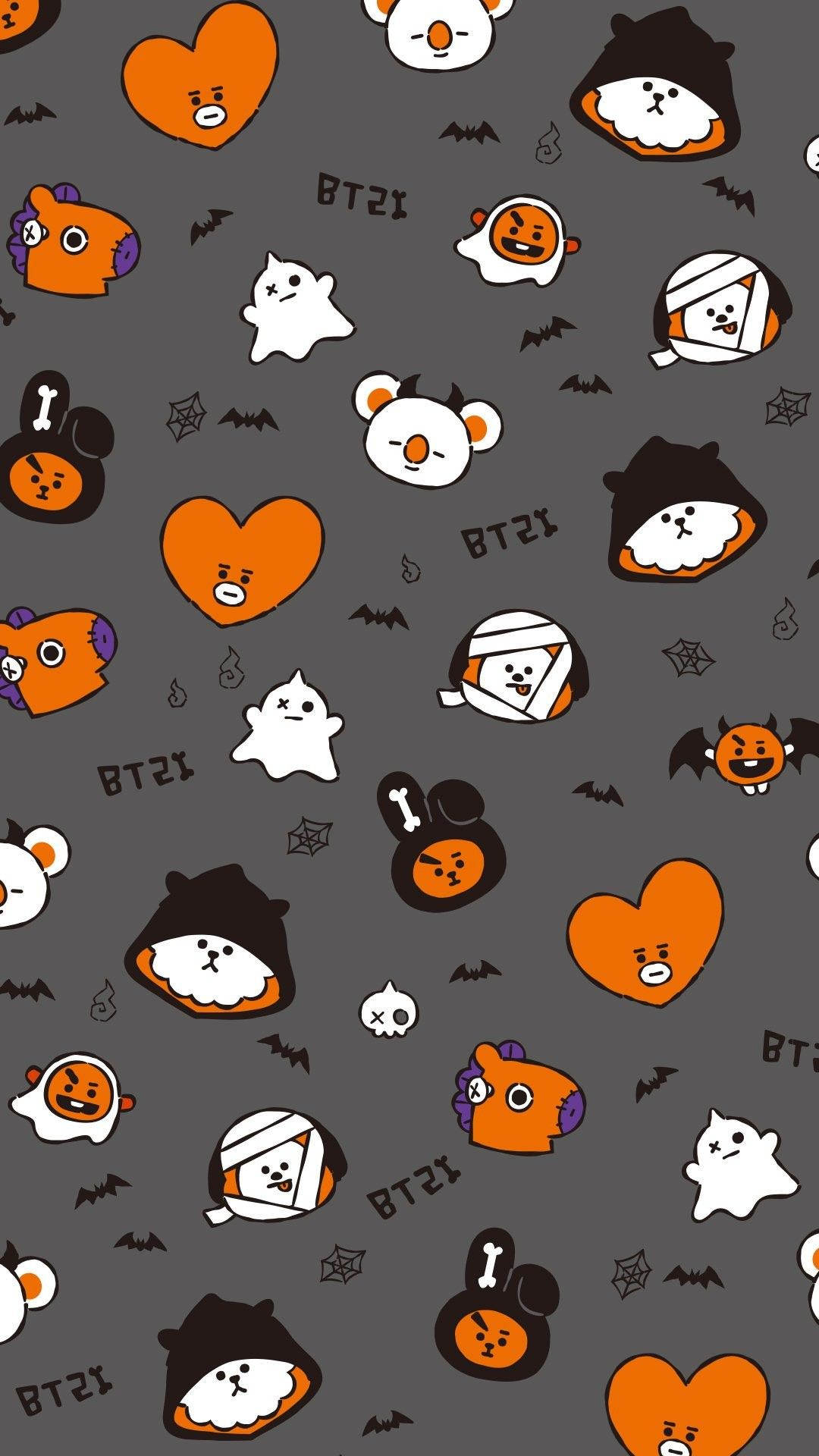 Bt21 Oficial Twitter Halloween Wallpaper Bts Halloween Halloween Wallpaper Iphone