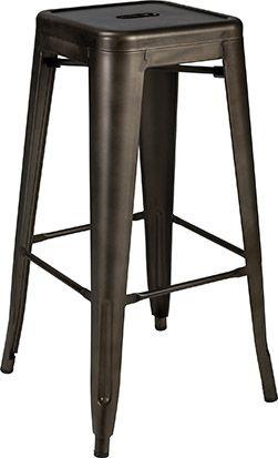Xavier HS is een industriële barkruk met metalen frame ...
