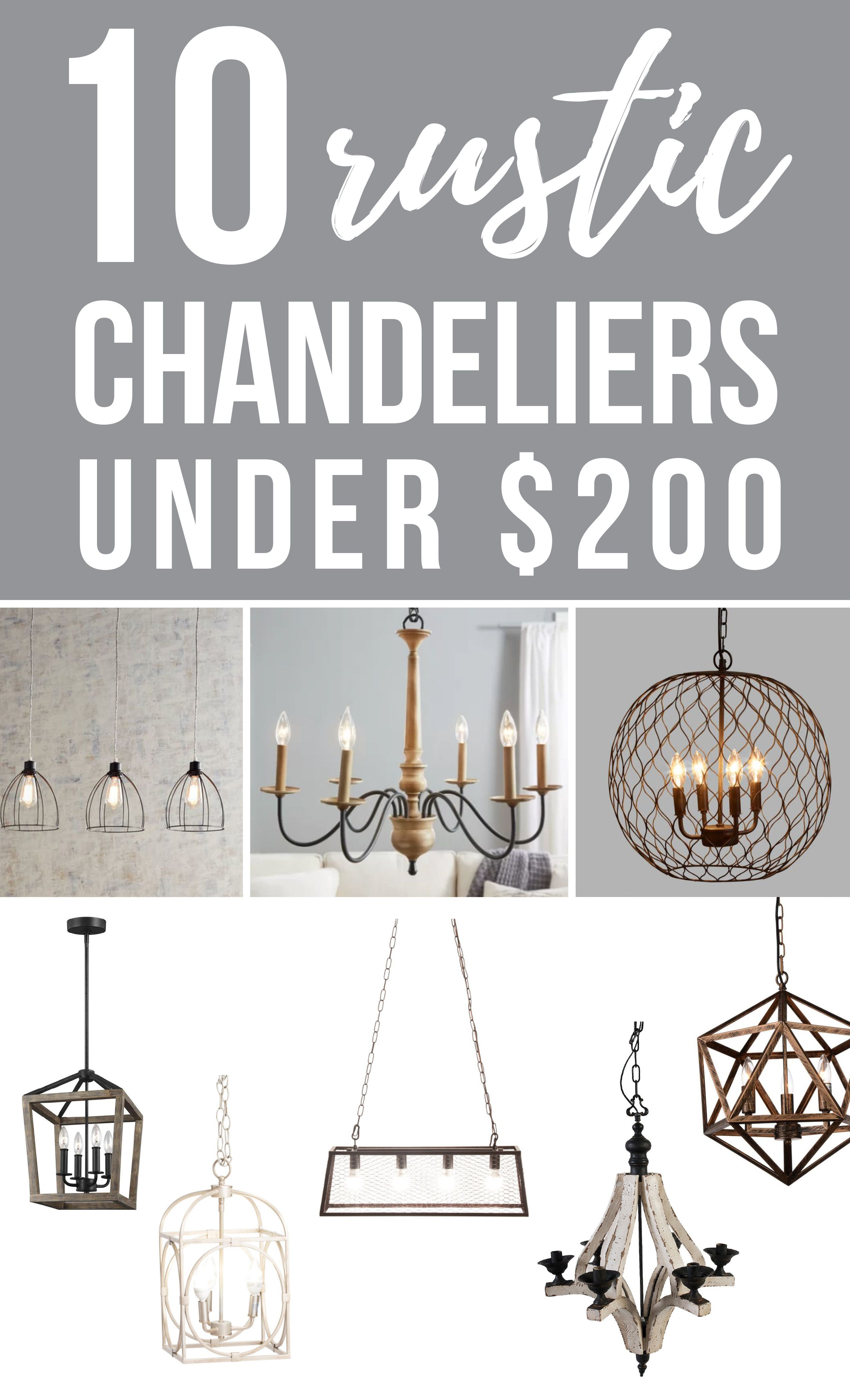 10 Farmhouse Chandelier Ideas Under 250 Rustic Chandelier Chandelier Farmhouse Style Decorating
