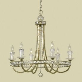 Candice Olson By Af Lighting 6 Light Aristocrat Soft Gold Chandelier Lowes