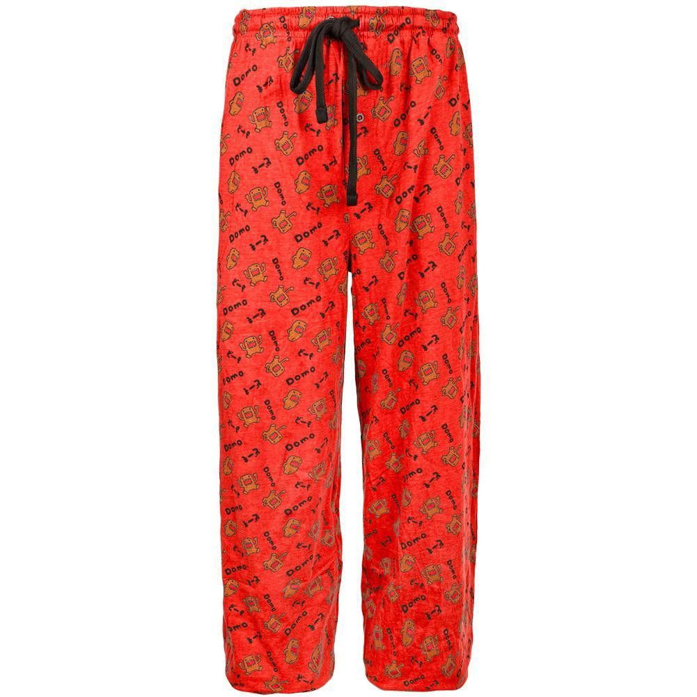 Red flannel pajama pants  Domo  AllOver Angry Domo Red Sleep Pants  Products  Pinterest