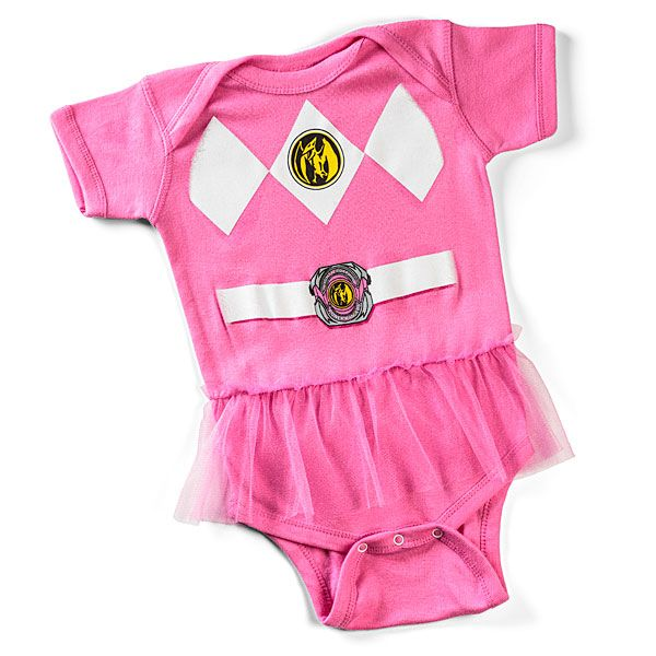 Pink Power Ranger Onesie For Superbabies Cool Baby Gifts