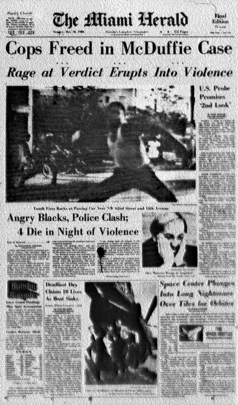 The front page of Sunday, May 18, 1980.