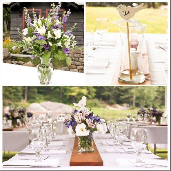 Günstige #Tischdeko zur #Hochzeit, die einen tollen Eindruck hinterlässt