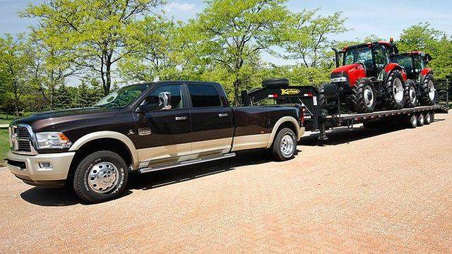 Kaufman Flatbed Trailer Getting The Job Done Pickup Trucks Trucks Lifted Trucks