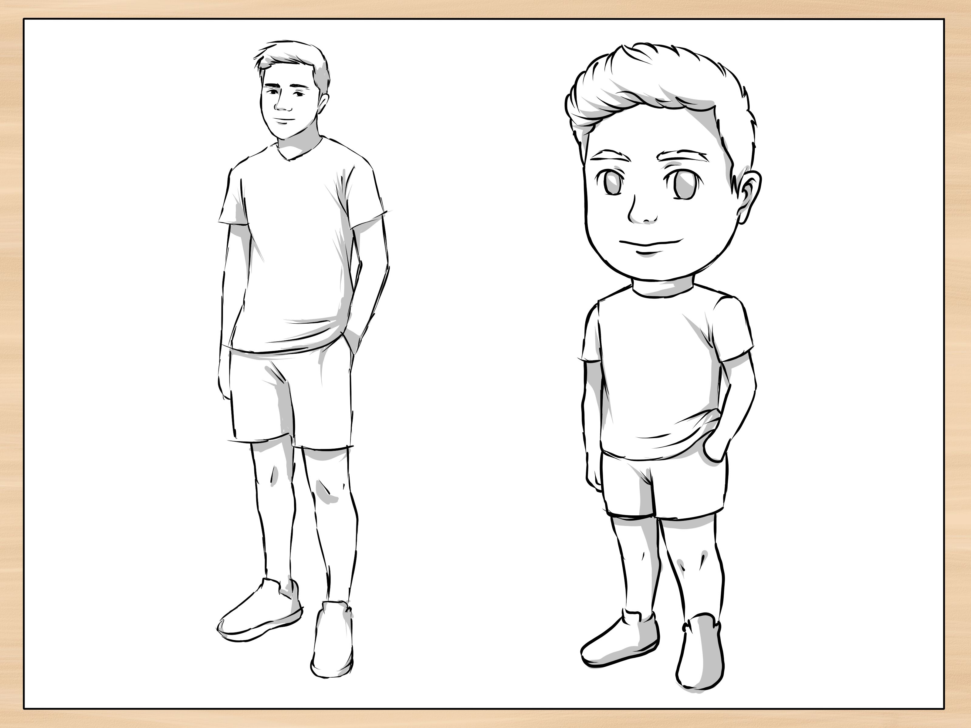 How To Draw A Person 14 Steps With Pictures Wikihow Person Drawing Easy Person Drawing Easy Drawings