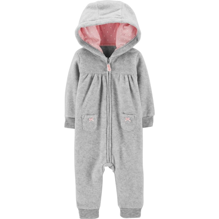 26676daa250f Baby Girl Carter s Koala Hooded Fleece Jumpsuit in 2018