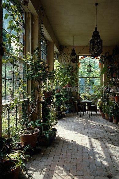 Plancher Pave Dans Notre Veranda Jardin D Hiver Jardin Maison