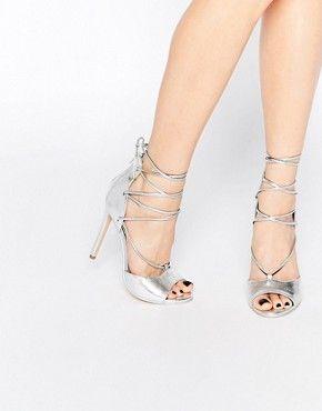 1e3f82d4653 Boohoo Lace Up Peep Toe Heels   shoes   Heels, Peep toe heels ...