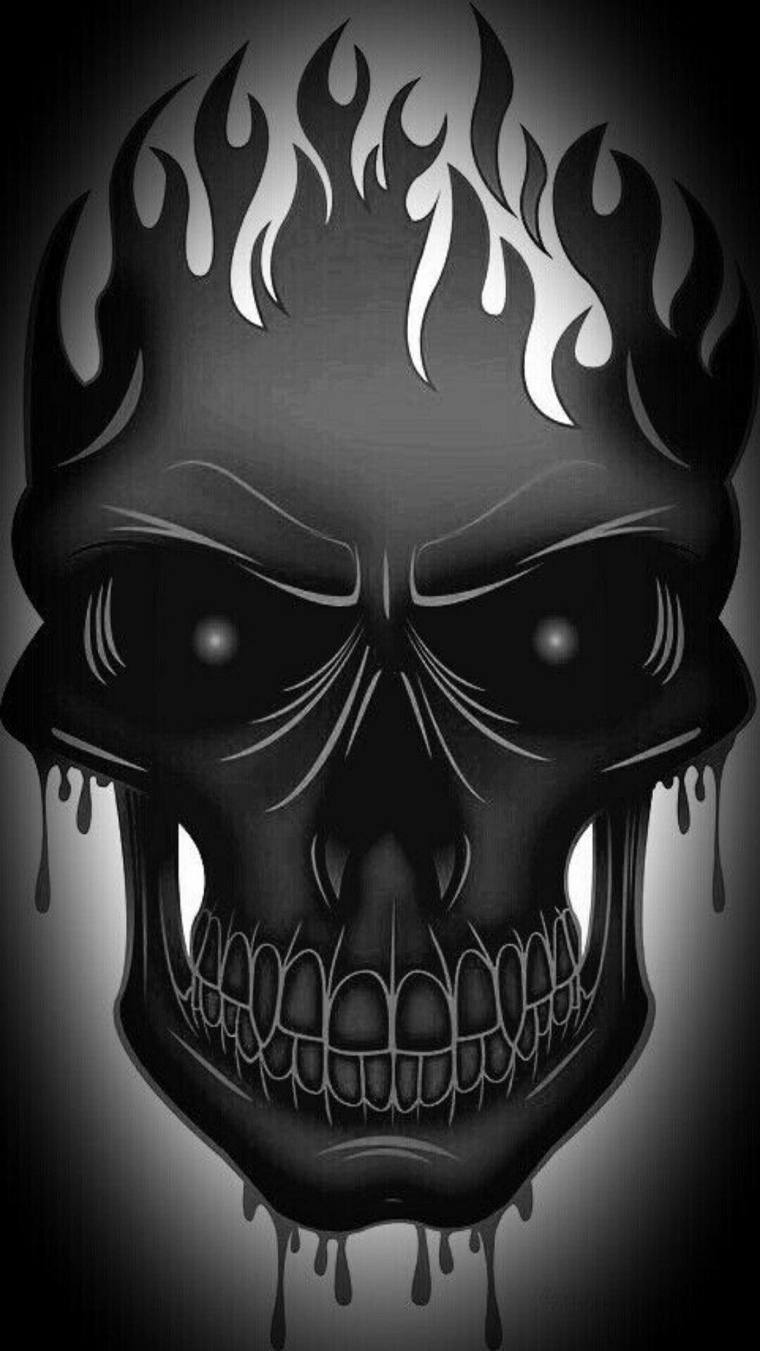 Skull Flames Calaveras Arte Com Caveira Caveira Tatoo Y Tattoo