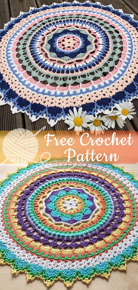 Mystery Mandala [CROCHET FREE PATTERNS] – Easy Crochet #crochetmandalapattern