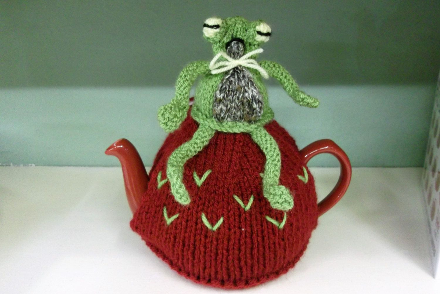 Frog 2 Cup Tea Cosy by SerendipityOfferings on Etsy | Knit ...