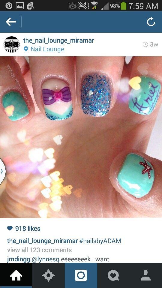 Ariel nails!! | Nailing It | Pinterest | Ariel and Disney nails