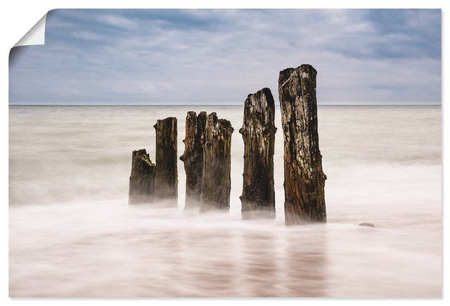 Photo of Artland Art Print Poster »Rico Ködder: Groynes on the coast of the Baltic Sea« OTTO
