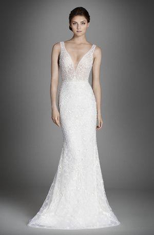 Knit V Neck Wedding Dress