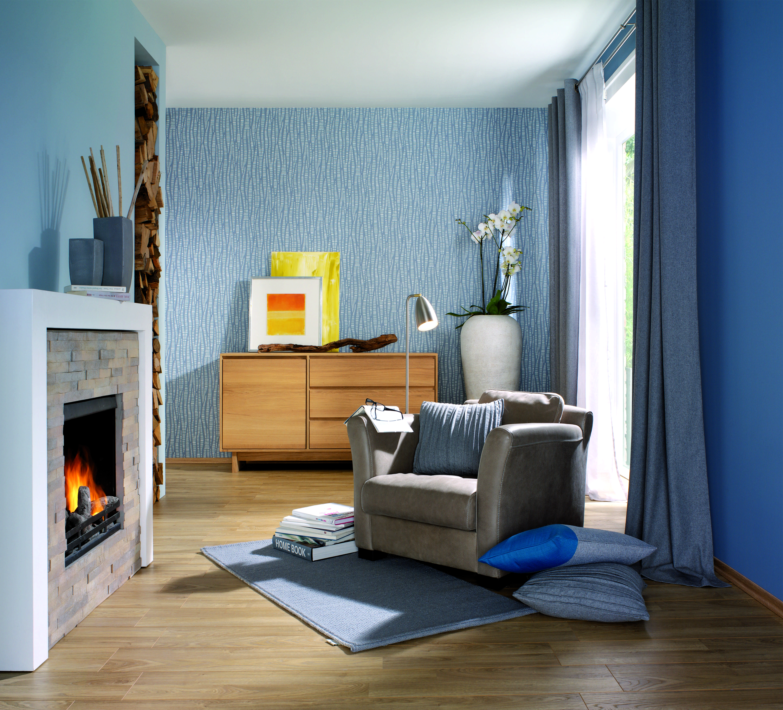 Die Harmonisch Zuruckhaltenden Farbtone Blau Und Grau Werden In Der Stilwelt Blaues Wunder Harmonisch Miteinander Kombiniert Toom Baumarkt Baumarkt Heimwerken