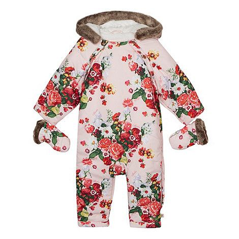 29b8432a239 Baker by Ted Baker Babies pale pink floral snowsuit and mittens- at  Debenhams.com