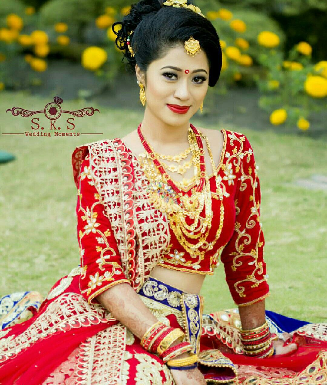 Nepali Wedding Tradition Nepal Marriage Bride Makeup Simple Saree Dress Bridal Lehenga Red Bride Indian Bride