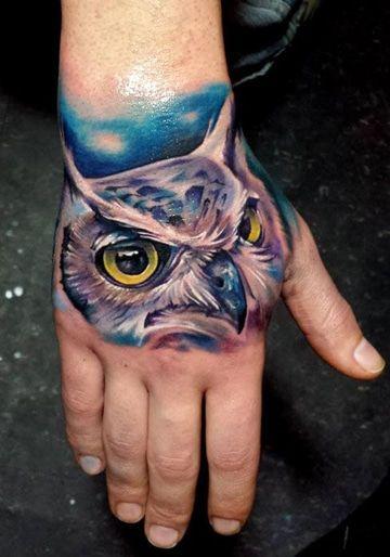 Significados Y Diseños De Tatuajes De Buhos En La Mano Tatuajes En