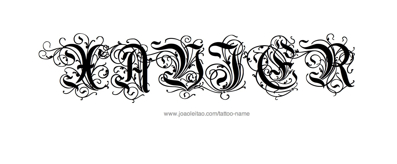 Xavier Tattoo Designs