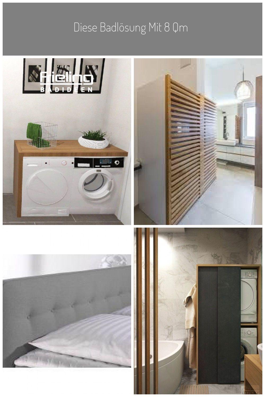 Diese Badlosung Mit 8 Qm Vereint Auf Kleinem Raum All Das Was Ein Badezimmer Braucht Neben Den Bad In 2020 Badezimmer Kleines Bad Einrichten Badezimmer Unterschrank