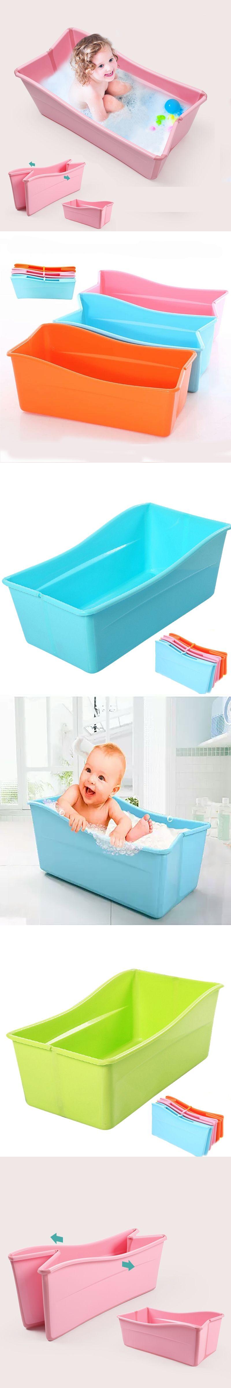 Folding Baby Bath Tub Children Folding Bath Baby Swimming Pool ...