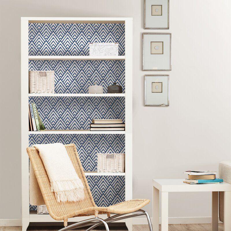 Niebrara 18 X 20 5 Smooth Peel And Stick Wallpaper Roll In 2020 Peel And Stick Wallpaper Wallpaper Shelves Home Decor