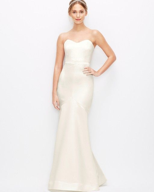 Ann Taylor Duchess Satin Strapless Wedding Dress | THIS IS NOT A ...