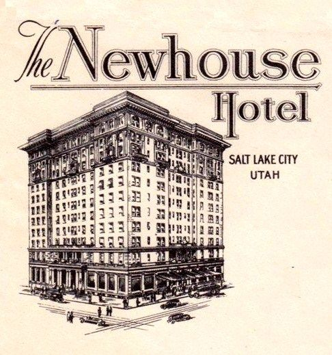 Salt Lake City Utah Hotels: Hotel Newhouse Postcard (this Hotel Was Razed In 1983