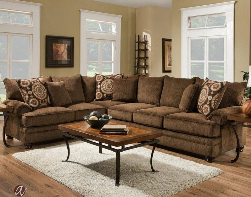 Albany 8645 63 65 Gens 29618 Twill Chocolate Sectional